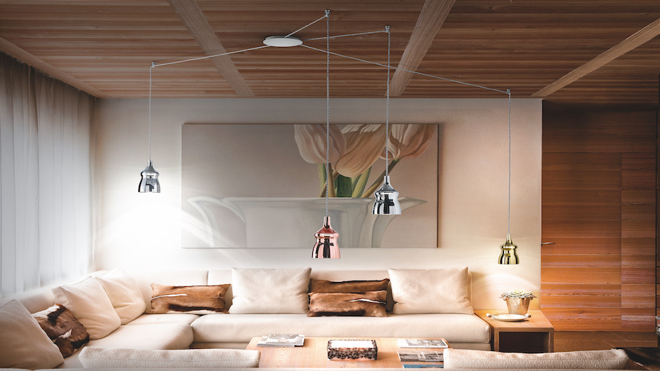 Studio Italia residential lighting - seating area